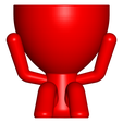 2_rojo_1.png Download free STL file The 3 pots glasses Robert Sabios Does not read, Does not listen, Does not see - The 3 pots glasses Robert Sabios Does not read, Does not listen, Does not see • 3D printable design, CREATIONSISHI