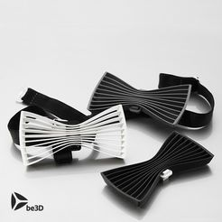THREESOME_CULTS.jpg Download free STL file Bow tie 01 - Flat • Object to 3D print, Ysoft_be3D