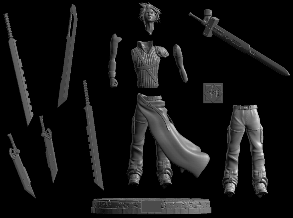 Annotation_2019-09-16_181532.png Download free STL file Cloud Strife ( Free soon / Bientot Gratuit ) • 3D printing model, BODY3D