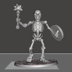 e070c312e375e0308a249bf6a54427cf_display_large.JPG Download free STL file 28mm Skeleton Warrior with Mace and Shield • 3D printer model, BigMrTong