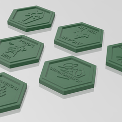 Tokens-Complete.png Download free STL file Necron-Inspired Ability Marker Tokens • 3D print model, Lokhust_Russ