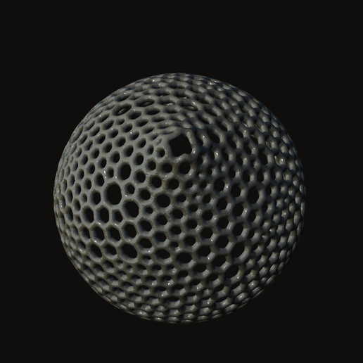 Screenshot__23_.png Download STL file Voronoi Hanging Lamp • Template to 3D print, crossthread