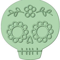 CH_e.png Download STL file Halloween skull 1 cookie cutter • 3D print design, osval74