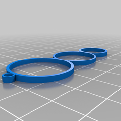 Triple_ringed_Earring_v1.png Download free STL file Triple Ringed Earring • Design to 3D print, INFX_TryHard