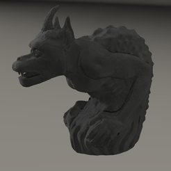 Capture d'écran 2017-09-29 à 11.59.18.png Download free OBJ file gargoyle inspired by Cathedral Notre Dame from Paris • Design to 3D print, MisterDiD