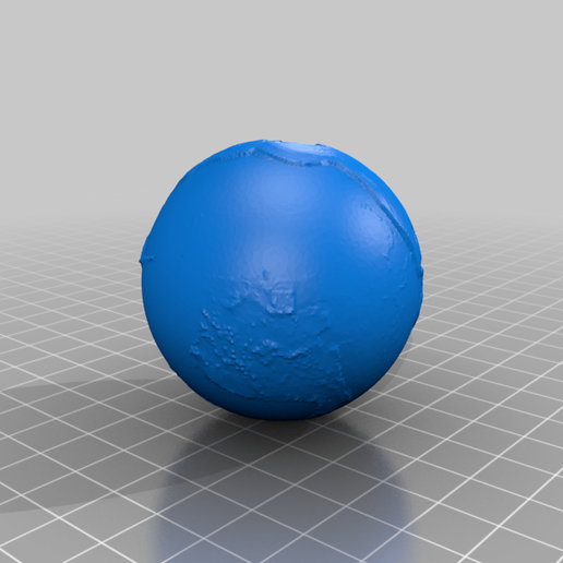 earth_95Mya_1_25_10_7.png Download free STL file Earth from 540 to 20 Mya scaled one in sixty million • 3D printable design, tato_713