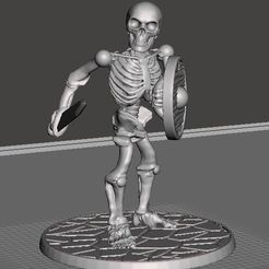 fd4c8e59b8a7add298869bd9fef2417c_display_large.JPG Download free STL file 28mm Skeleton Warrior with Short Sword and Shield • Template to 3D print, BigMrTong