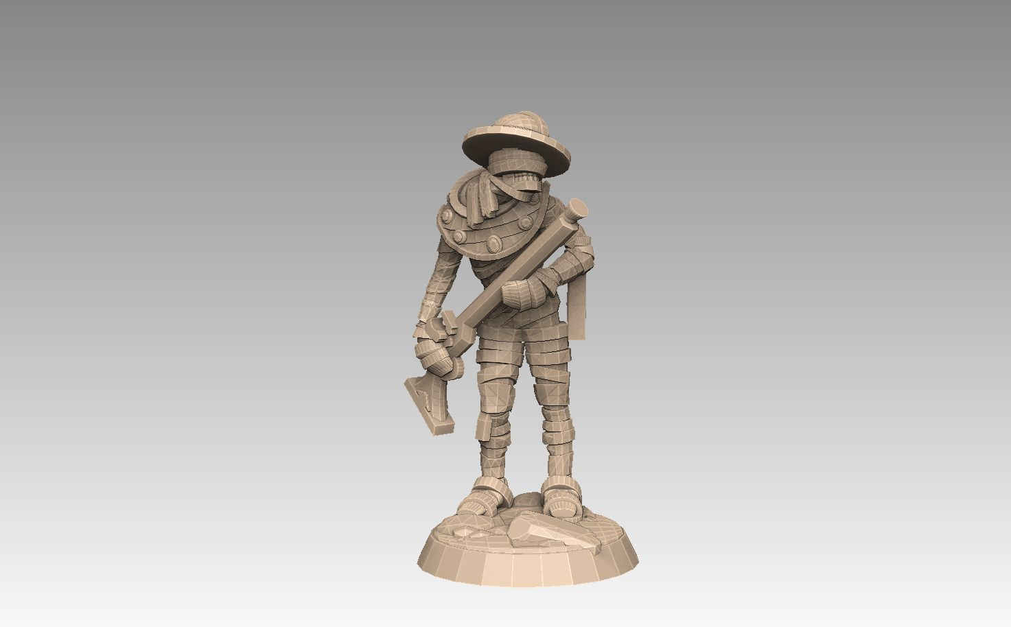 mh2-prom4a.jpg Download STL file Mummy Pack 1 • 3D printing object, SharedogMiniatures