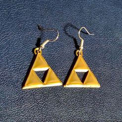 Triforce-Earrings-D-1256x942.jpg Download free STL file Triforce Earrings with Beveled Edges • 3D printing template, lyl3