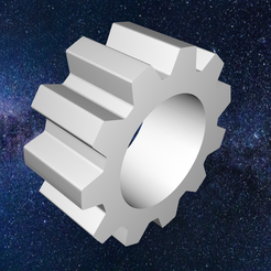 Shiny-Bojo-Fyyra2.png Download OBJ file Mechanical Gear 2 - Part for engines, clocks, robots, electric motors, bicycles, trains for 3D Printing • 3D printing object, circlesquare777