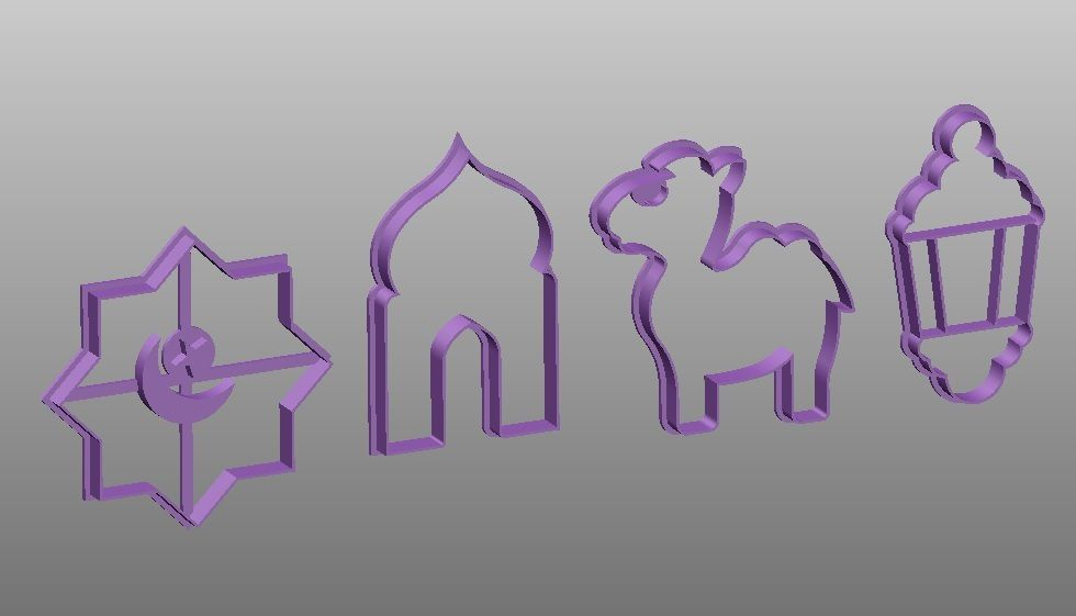 oooo.jpg Download STL file 10 high quality stencil and cookie cutters pack • 3D print template, Mooos
