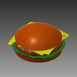 3.png Download free STL file Hamburger Fast Food • Object to 3D print, akaChewy