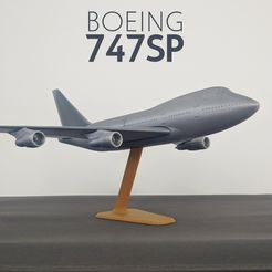 1-No-Free.jpg Download free STL file Boeing 747SP - 1:200 • 3D print object, CLERX