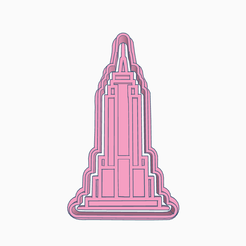 Sizzling Crift.png Download STL file EMPIRE STATE BUILDING COOKIE CUTTER • 3D printer design, KDASH