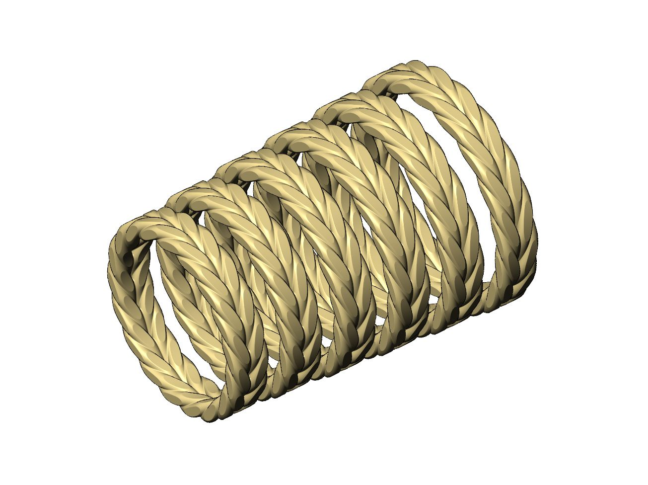 Faceted-double-wire-band-v3-01.JPG Download 3MF file Double wire faceted band 3D print model • 3D print model, RachidSW