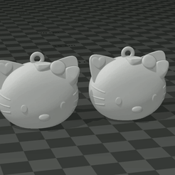 Captura.PNG Download free STL file KITTY EARRINGS • 3D print model, mistic-3d