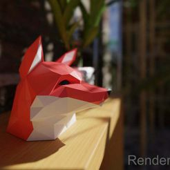 1foxxyRender.jpg Download free STL file Fox head - For single color printers • 3D printing design, nahojjjen
