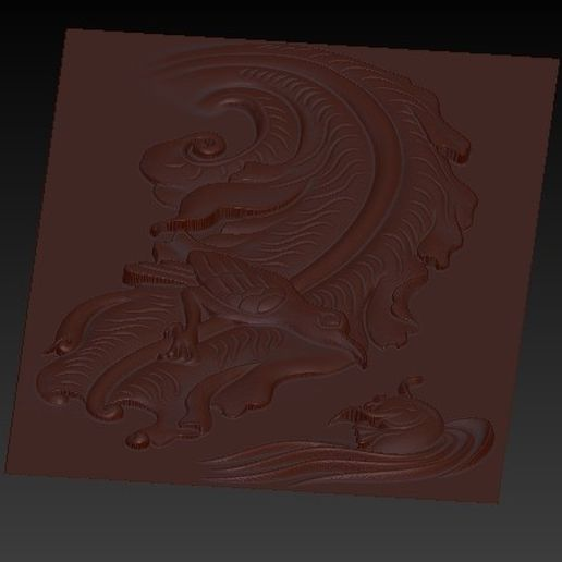 BirdAndFish5.jpg Download free OBJ file bird and fish 3d model of bas-relief for cnc • 3D print model, stlfilesfree