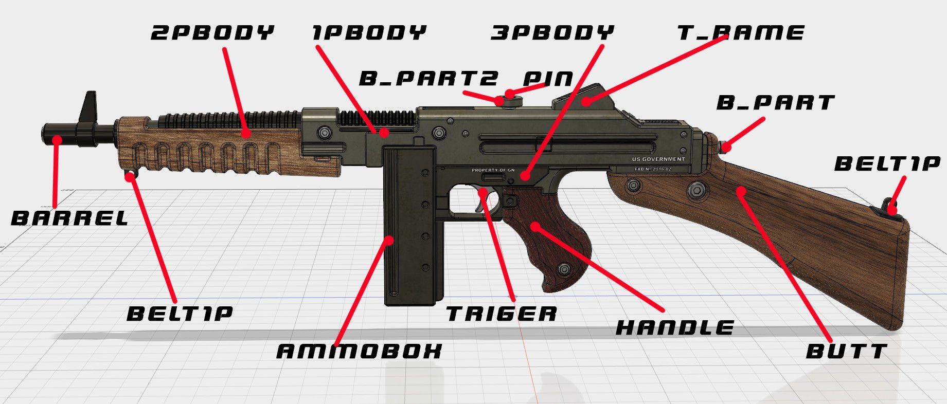 shms.jpg Download free STL file Wolfenstein The New Order SMG • 3D print model, 3dpicasso