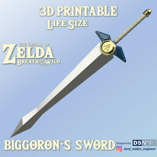 Cover-Cults.jpg Download STL file Biggoron's Sword from Zelda Breath of the Wild - Life Size • 3D printer object, Nerd_Maker_Engineer