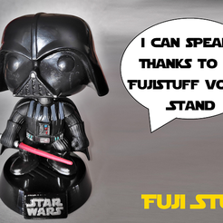Funko_thimb.png Download free STL file Speaking Funko Pop Stand - Custom voice • 3D printable design, JeanSeb