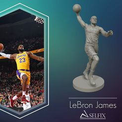 01.jpg Télécharger fichier OBJ LeBron James 3D Dunk Model pour l'impression 3D • Design pour imprimante 3D, selfix