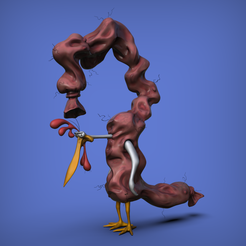 salchichafea.22.png Download STL file Uglyest weenie - Ugly sausage - Cow and chicken 90s show • 3D print design, XONID