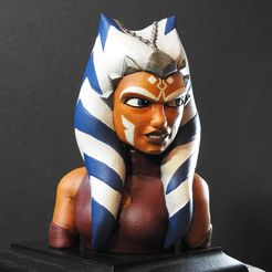 DSCN7155_fixed.jpg Download free STL file Ahsoka Tano Bust • Object to 3D print, LSMiniatures