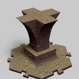 Sewer_Column_C.png Download file PuzzleLock Sewers & Undercity • Design to 3D print, Zandoria