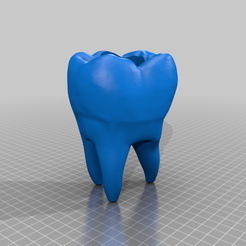 Tooth_5.png Download free STL file Tooth Planter • 3D printing template, thelyingminister