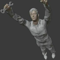 H9.jpg Download STL file H9 Standing male mechanic • 3D printable design, Builder3D