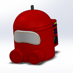 Front Isometric View.PNG Download free STL file Among Us Baby Design • 3D printing design, vincentzheng