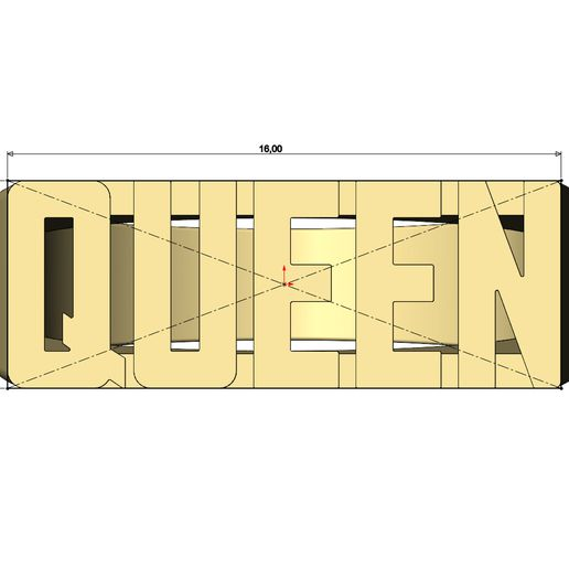 Queen-name-ring-07.jpg Download 3MF file  Queen rectangular name ring US size 5to9 3D print model • 3D printable design, RachidSW