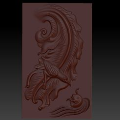 BirdAndFish1.jpg Download free OBJ file bird and fish 3d model of bas-relief for cnc • 3D print model, stlfilesfree