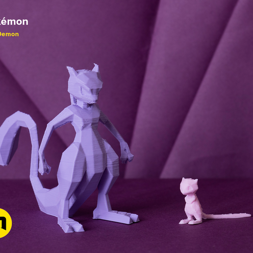 pokemon-low-poly022.png Download file Low Poly Pokemon Collection 151 • 3D printable object, 3D-mon