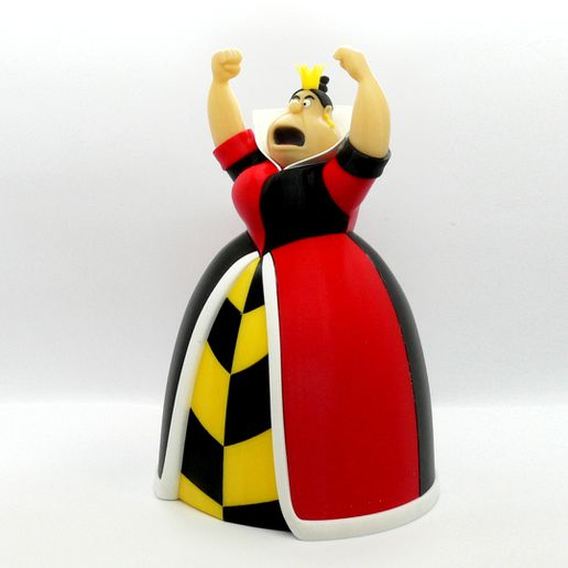 queen angle1.jpg Download free STL file Queen of Hearts • 3D printing model, reddadsteve