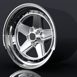 untitled.216.png Download STL file Custom Mercedes Penta AMG style wheel - for scale model cars • 3D print model, TrojanScale