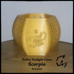 Zodiac_SCORPIO_mix_original_1.jpg Download STL file Scorpio (Scorpion) Zodiac Tealight Cover • 3D print model, c47