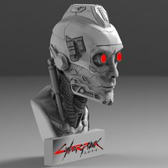 13.486.jpg Download STL file Cyberpunk 2077 Lamp • 3D printable template, freeclimbingbo
