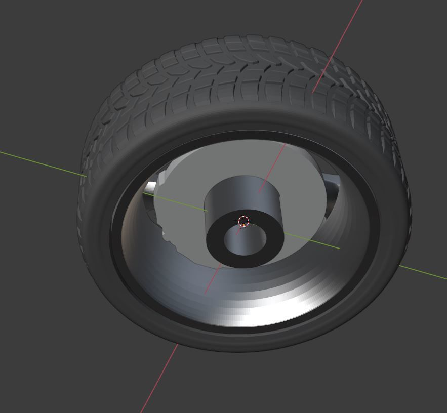 r3.JPG Download STL file  LLC Style Wheel, Tire and Brakes for diecast model 1/64 1/43 1/24 1/18 1/10... • 3D printing template, BlackBox
