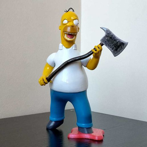 homer 1.jpg Download free STL file The Simpsons Homer The Shinning TreeHouse of Horror V • 3D print template, HTBROS