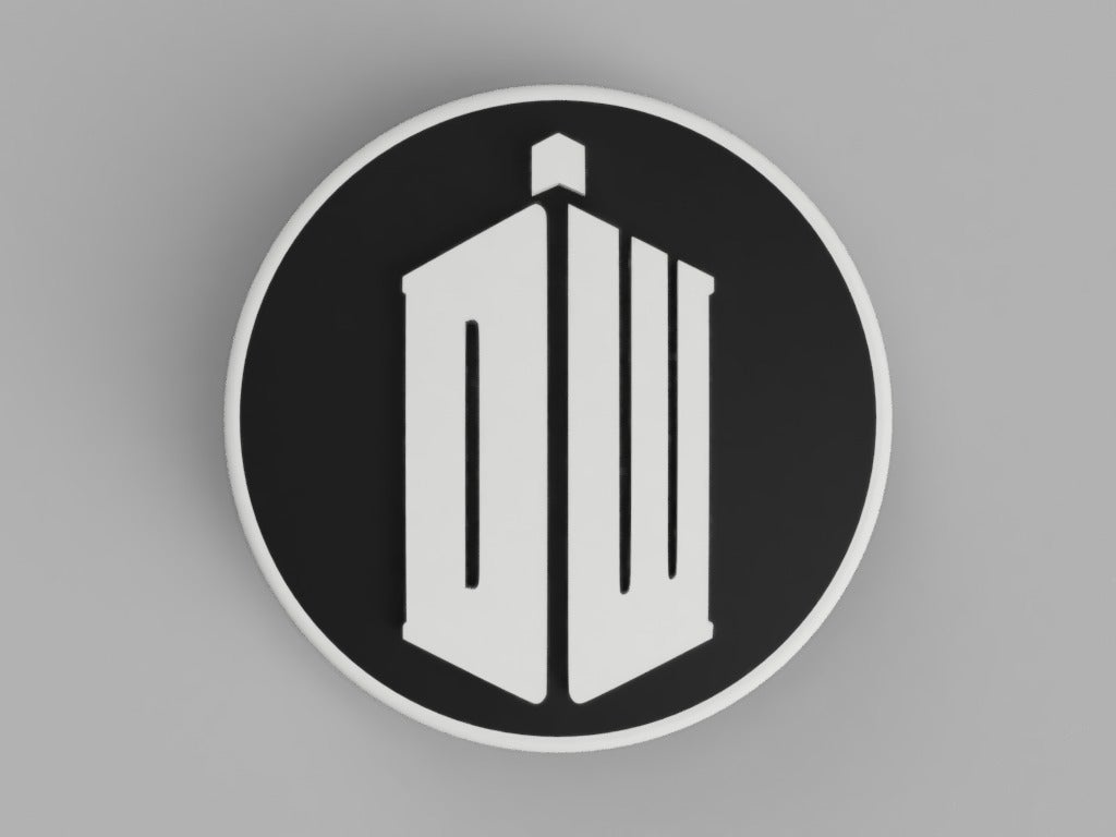 BMW_Doctor_Who_Logo_Rear_74mm_1.png Download free STL file hood / trunk logo Doctor Who 82mm / 74mm for BMW vehicles • 3D printing design, DaGoN