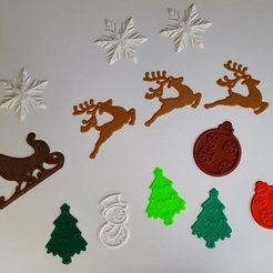 christmas_decals_all.png Download free STL file Decorate with Decals for the Holidaze • 3D printable model, barb_3dprintny