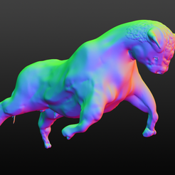 toro001.png Download OBJ file bull008 • 3D printable model, azoooka