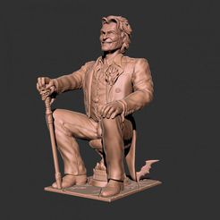 joker.png Download free STL file Joker statue • 3D printer model, 3DArt