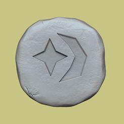 cosmic.png Download STL file Cosmic Rune - Runescape - STL Keychain • 3D printing design, gui_sommer