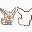ZDSDRTT.png Download free STL file EEVEE - POKEMON COOKIE CUTTER ANIME • Object to 3D print, SinTiempoLibre