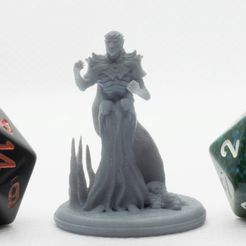 Vecna_1.jpg Download free STL file Dark Sorcerer - Tabletop Miniature • 3D print design, M3DM