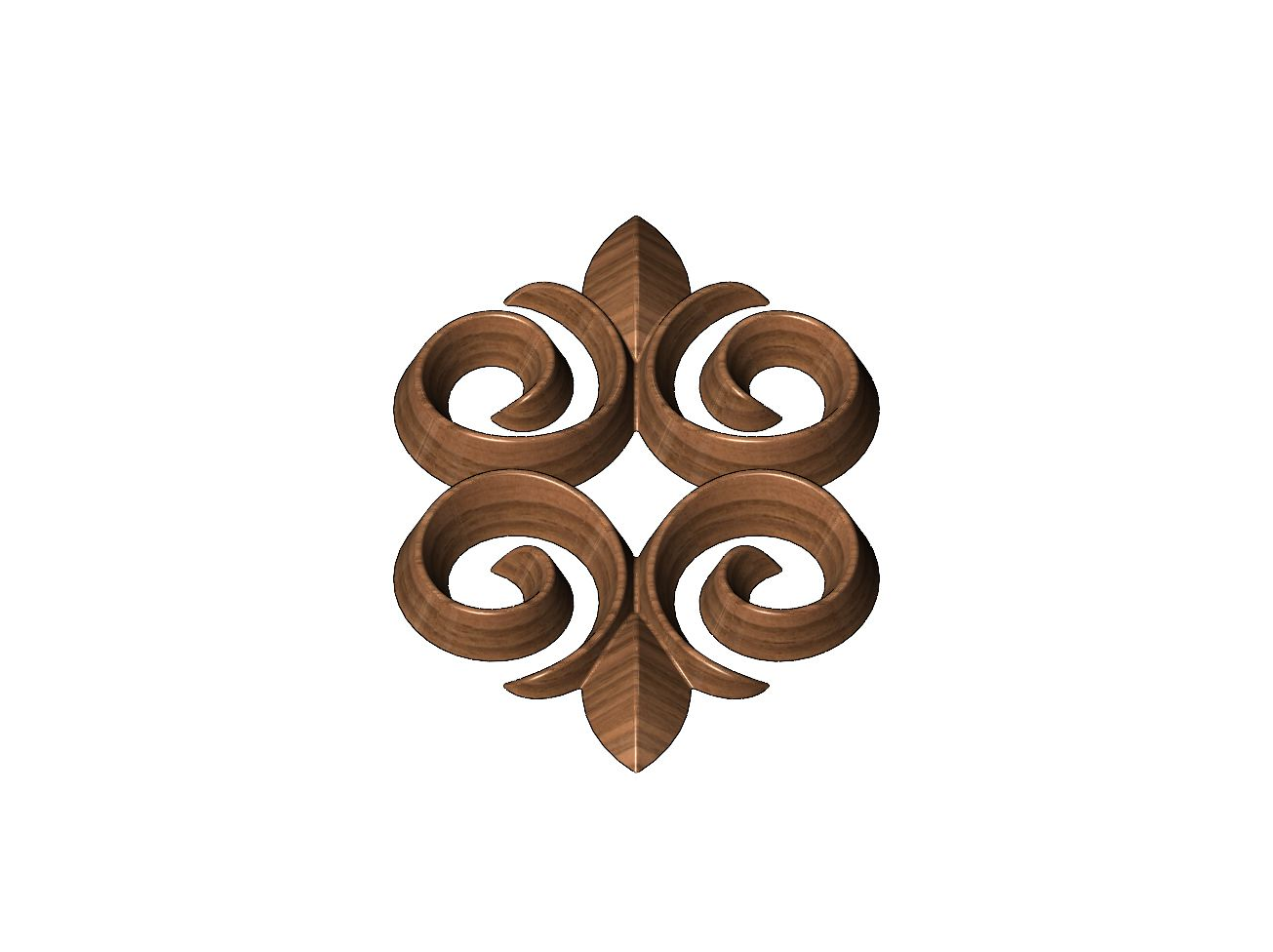 onlay18-07.JPG Download 3MF file Floral motif decoration scroll relief 3D print model • 3D printable object, RachidSW