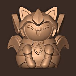 a.jpg Download STL file Cat Saint Seiya Gold • Model to 3D print, MatteoMoscatelli